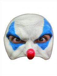 Elak vitblå clownmask
