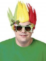 Trefärgad peruk till partyt för vuxna