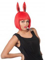 Red Rabbit - Peruk för vuxna till maskeraden