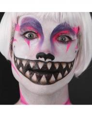 Cheshirekattmun - Tatuering för vuxna till Halloween