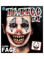 Mad Clown - Fusktatuering till Halloweensminkningen