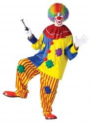 Clownen Bozo - Maskeraddräkt för vuxna