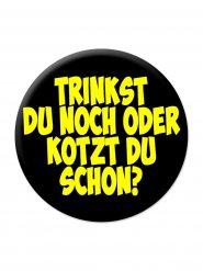 Tysk pins i svart och gult med viktig fråga