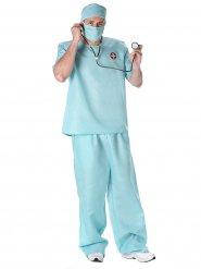 Kirurgdräkt i blått för vuxna till maskeraden