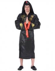 Samuraï dräkt för vuxna i svart och guld till maskisen