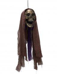 Dödskalle med inbyggda ljus - Halloweendekoration