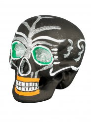 Dekorativt kranium i svart - Halloweendekoration