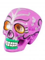 Dia de los Muertos-skalle i rosa till Halloween