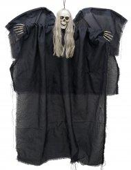 Fallen ängel med lysande dödskalle 110cm - Halloweendekoration