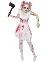 Zombietjej - Halloween kostym för vuxna