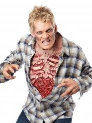 Zombiebyst i latex till Halloween