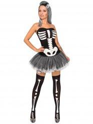 Skelettbrud - Halloweenkostym för vuxna