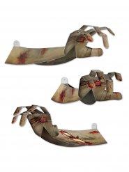 Zombiehand - 3D dekoration till Halloween