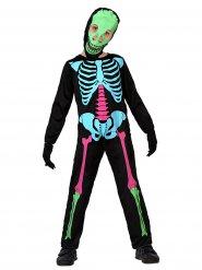 UV-skelett - Halloweenkostym för barn