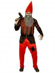 Psykopatisk hustomte - Halloweenkostym för vuxna