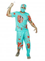 Zombiekirurg - Halloweenkostym för vuxna