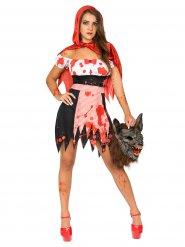 Blodrödluvan - Halloweenkostym för vuxna