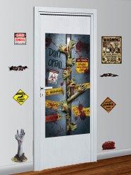 Zombie Zone - 9 väggdekorationer till Halloween