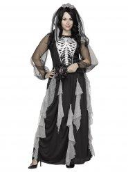 Skelettbrud - Halloweenkostym