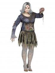 Förskräcklig zombie - Halloweenkostym i stor storlek