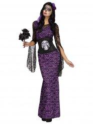 Vacker lila De Dödas dag-kostym för vuxna