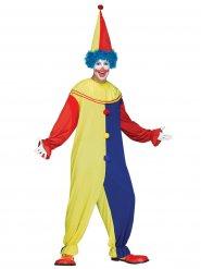 Clownoverall för vuxna till maskeraden