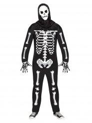Pixel skelett för vuxna - Halloween Maskeraddräkt