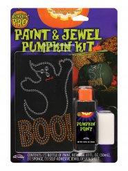 Färg och smycke för pumpan - Halloweendekor