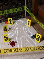 Brottsplats Halloweendekoration