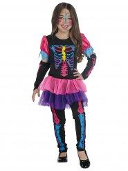 Färggranna skelettoverall för barn till Halloween
