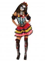 Färggrann Calavera till De dödas dag - Halloweenkostym