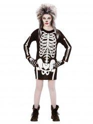 Skelettklänning för barn till Halloween