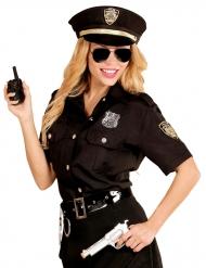 Svart polisdräkt till maskeraden för vuxna