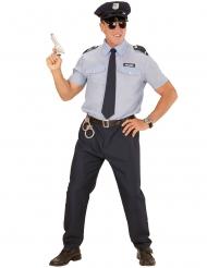 Blå polisdräkt för vuxna till maskeraden