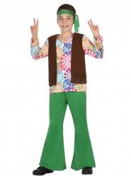 Grön & Groovy - Hippiedräkt för barn till maskeraden