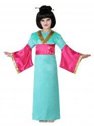 Färggranb Geisha-inspirerad dräkt för barn