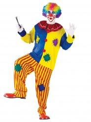 Clownen Bozo - Maskeraddräkt för större vuxna