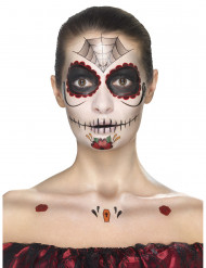 Spindelprincessa smink a La Dia de los muertos - Halloween sminkning