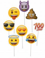 Emoji™ photobooth kit med 8 delar