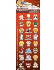 24 roliga stickers från Emoji™ - Kul till kalaset