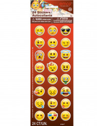 24 Emoji™-stickers - Kul till fiskdammen