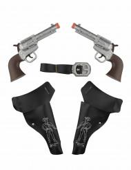 2 leksakspistoler - Cowboykit för barn