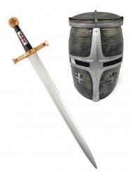 Riddarens svärd och hjälm - Maskeradtillbehör för barn
