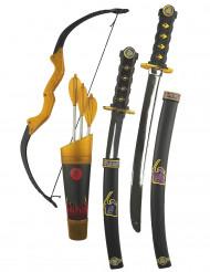 Kit med leksaksvapen för en ninja - Maskeradtillbehör för barn