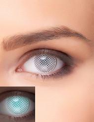 Fantasilinser med vit UV spärr för vuxna - Halloween sminkning
