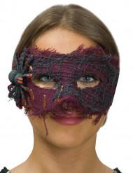 Ögonmask med spindel - Halloweenmask för vuxna