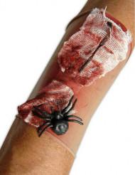 Ruskigt sår med spindel - Ärm till Halloween