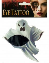 Ansiktstatuering i form av spöke - Halloweensminkning
