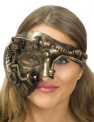 Biomekanisk människa - Halvmask för vuxna i Steampunkstil