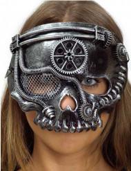 Mekanisk skelettmask i Steampunk-stil till maskeraden
